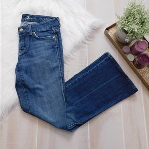 7 For All Mankind Blue A Pocket Flare Jeans
